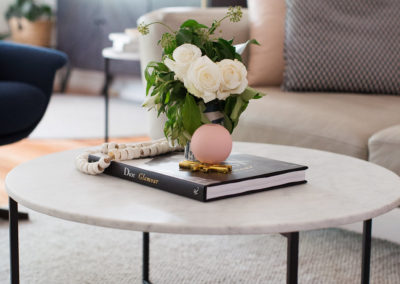 O'Conner house - coffee table styling