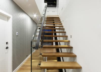 Staircase and entrance. Interior design and styling by Studio Black Interiors, Denman Prospect Canberra, Australia