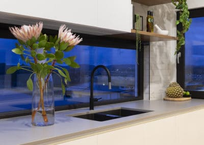 Kitchen interior design and styling by Studio Black Interiors, Denman Prospect Residence, Canberra, Australia.