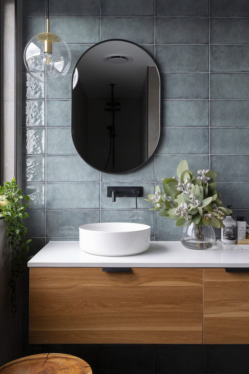 Ensuite interior design and styling by Studio Black Interiors, Denman Prospect Residence, Canberra, Australia.