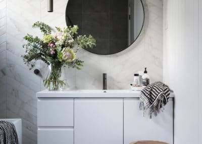 Bathroom interior design and styling by Studio Black Interiors
