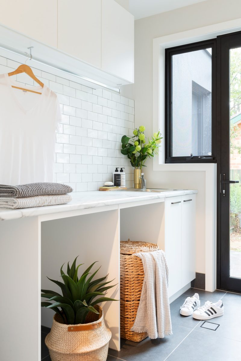 Laundry interior design and styling by Studio Black Interiors