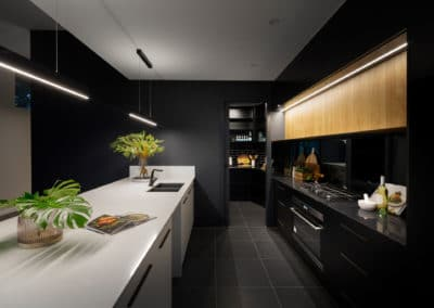 Kitchen interior design and styling by Studio Black Interiors, Downer Residence, Canberra, Australia.