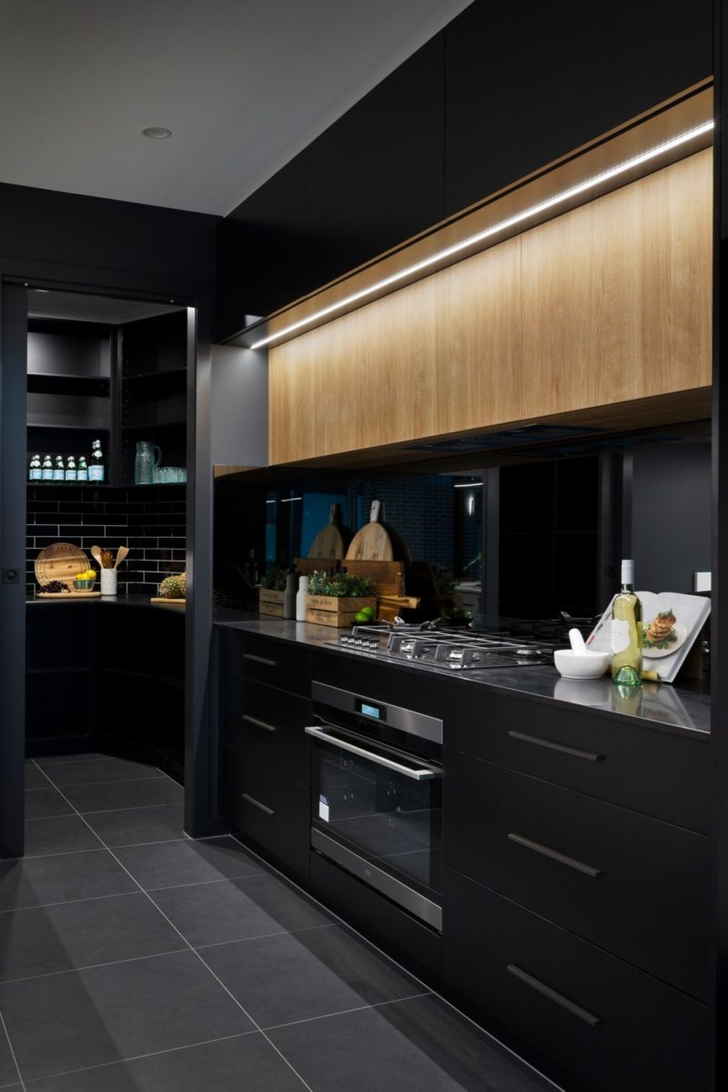 Kitchen interior design and styling by Studio Black Interiors.
