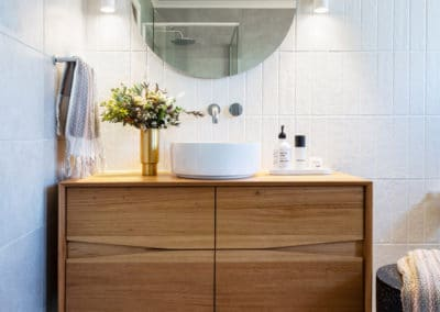 Interior design by Studio Black Interiors, Yarralumla bathroom renovation, Canberra, Australia.
