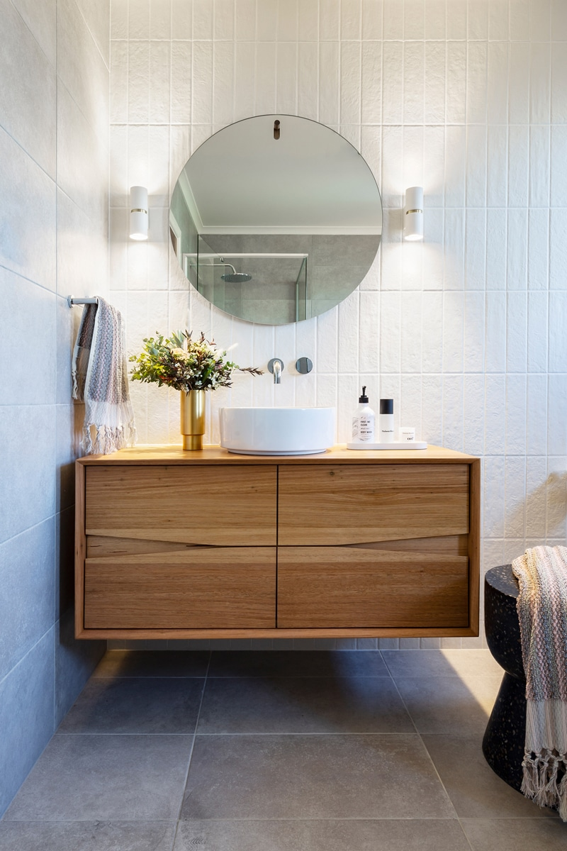 Interior design by Studio Black Interiors, Yarralumla bathroom renovation, Canberra, Australia.
