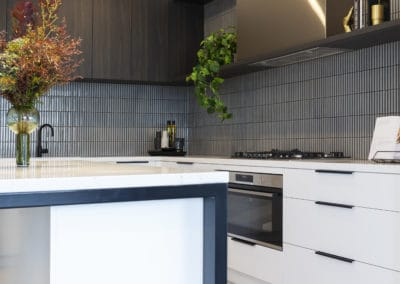 Kitchen interior design and styling by Studio Black Interiors, Redhill Development, Canberra, Australia.