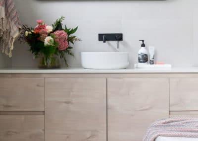 Bathroom interior design and styling by Studio Black Interiors, Redhill Development, Canberra, Australia