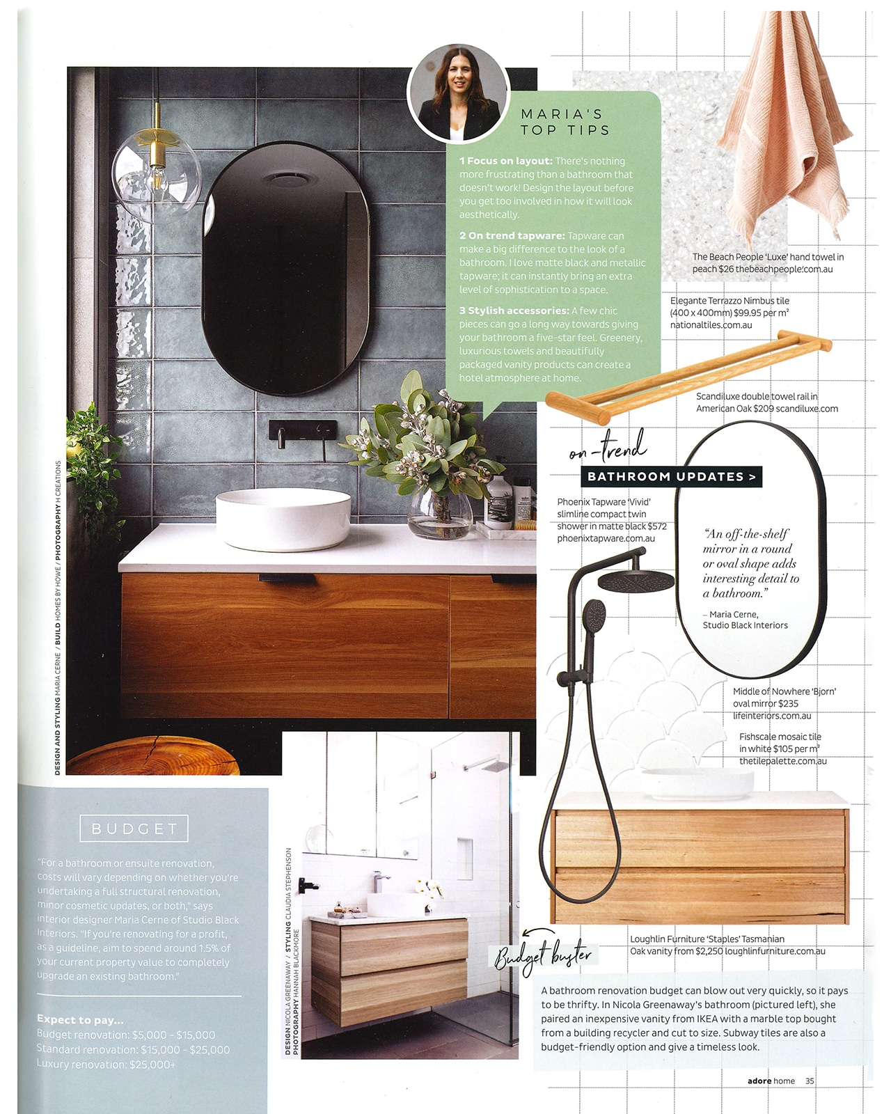 Studio Black Interiors featured in Adore Magazine.
