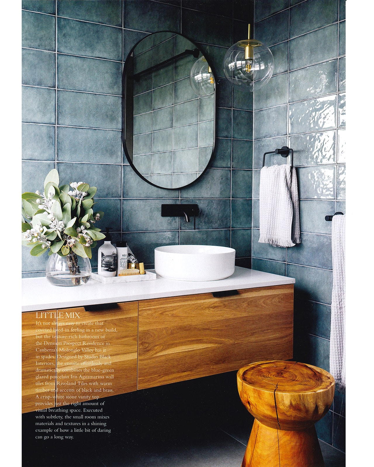 Studio Black Interiors featured in Inside Out Magazine.