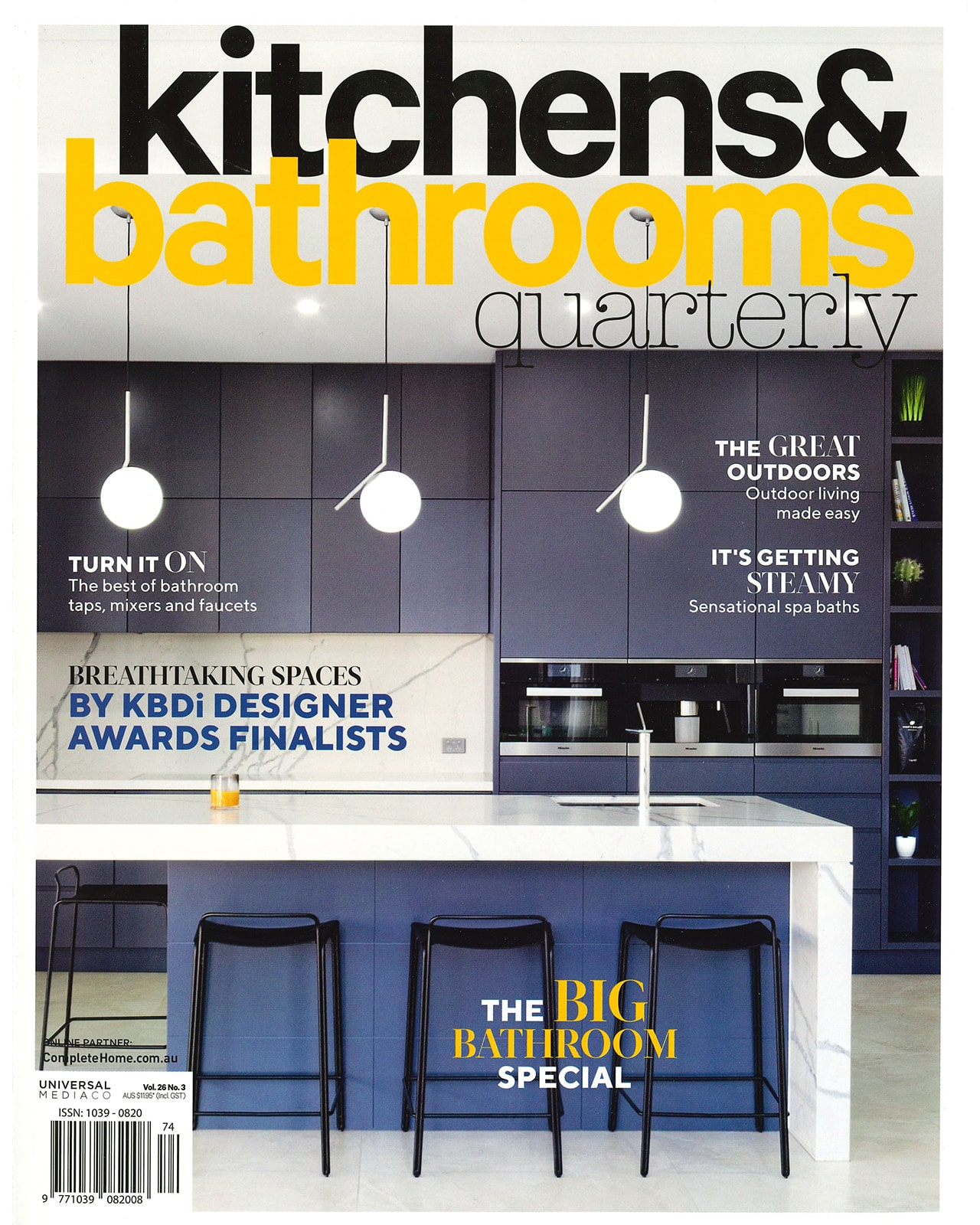 Studio Black Interiors featured in Kitchens and Bathrooms Quarterly Magazine.