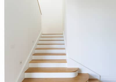 Entry Stairs. Interior design by Studio Black Interiors, Yarralumla residence, Canberra, Australia.