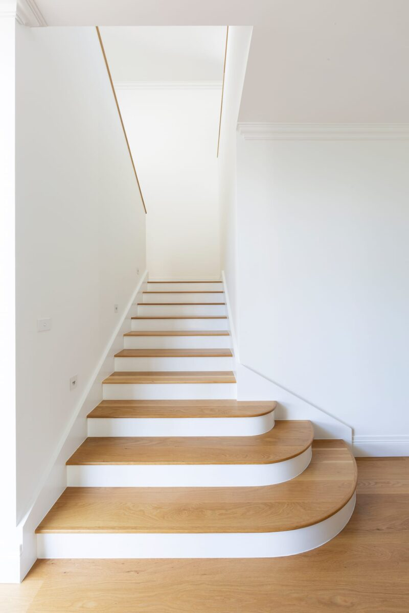 Entry Stairs. Interior design by Studio Black Interiors, Yarralumla residence, Canberra, Australia.
