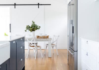 Hampton Style Kitchen. Interior design by Studio Black Interiors, Yarralumla Residence, Canberra, Australia.