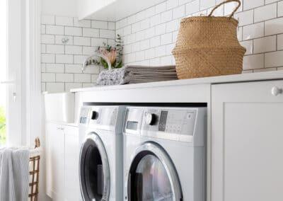 Modern Hampton Style Laundry. Interior design by Studio Black Interiors, Yarralumla Residence, Canberra, Australia.