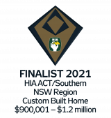 HIA Finalist 2021 Custom Built Home $900,00 - $1.2million